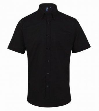 black short sleeve oxford shirt