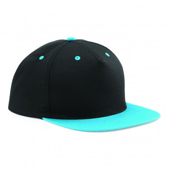 black surfblue contrast snapback caps