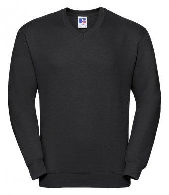 black v neck sweatshirt