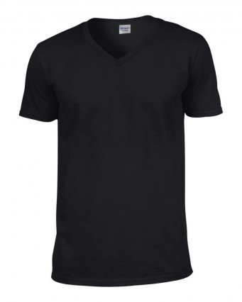 black v neck t shirt