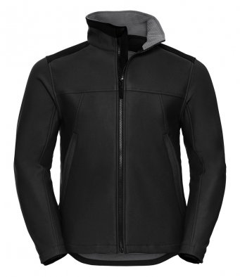 black workwear softshell jacket