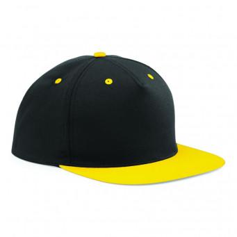 black yellow contrast snapback caps
