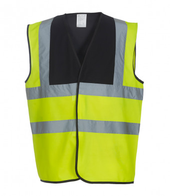 black yellow hi vis vest