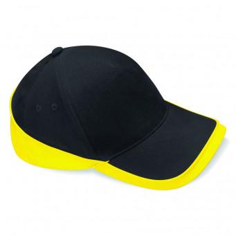 black yellow teamwear caps