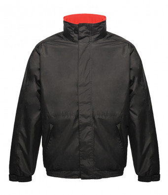 bomber work jacket black red