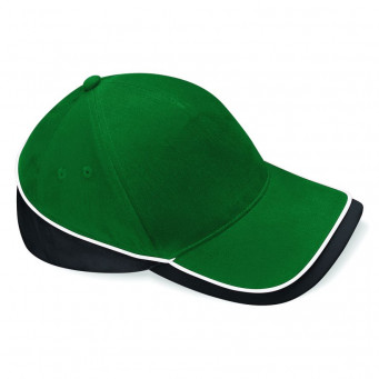 bottle green black white teamwear caps