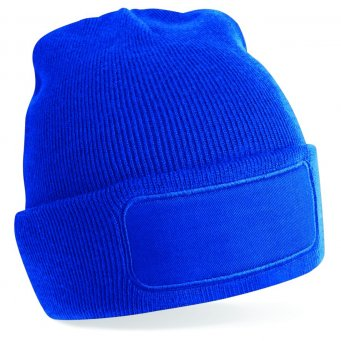 bright royal printed beanie