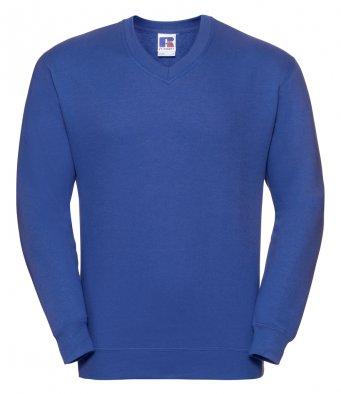 bright royal v neck sweatshirt