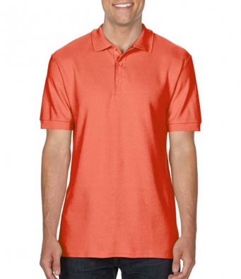 bright salmon premium cotton polo shirt