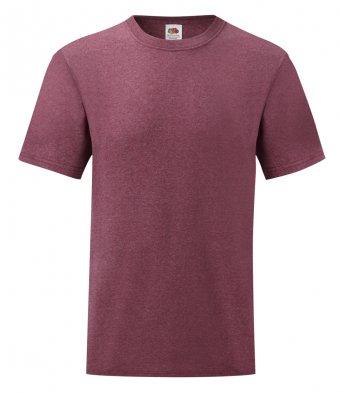budget t shirt heather burgundy