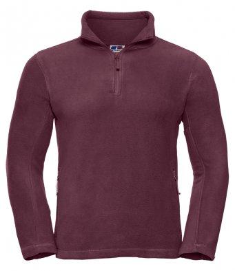 burgundy 34 zip fleece jacket