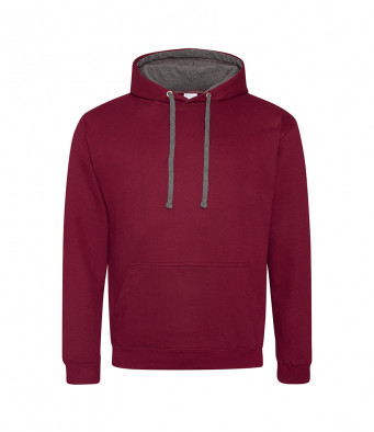 burgundy charcoal contrast hoodies