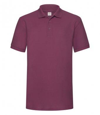 burgundy heavy duty polo shirt