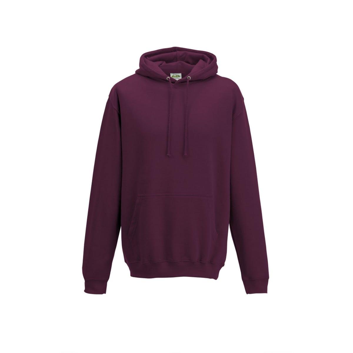 burgundy overhead college hoodies