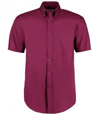 burgundy oxford short sleeve shirt
