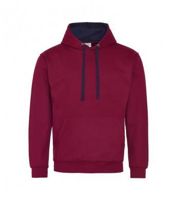 burgundy oxfordnavy contrast hoodies