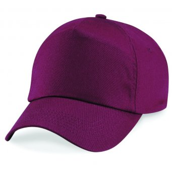 burgundy red classic cap