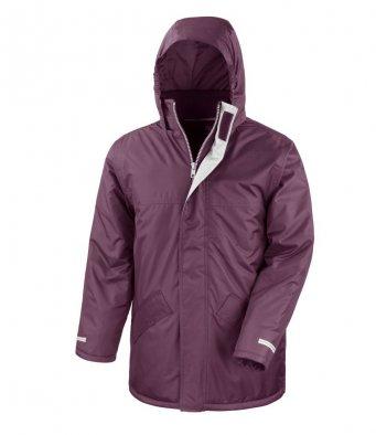 burgundy winter jacket