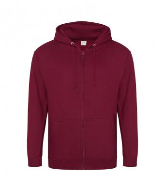 burgundy zipped hoodie