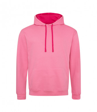 candyflosspink hotpink contrast hoodies