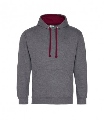 charcoal burgundy contrast hoodies