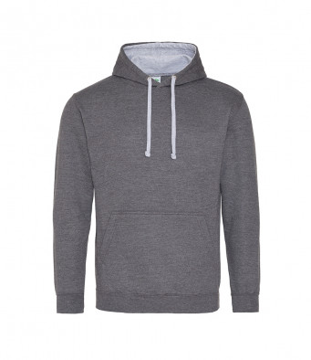 charcoal heathergrey contrast hoodies