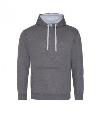 charcoal heathergrey contrast hoodies