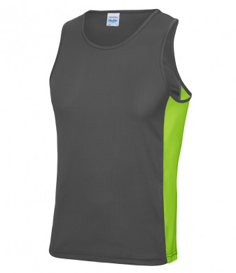 charcoal lime vest