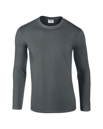 charcoal long sleeve cotton t shirt