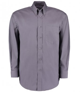 charcoal long sleeve oxford shirt