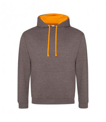 charcoal orangecrush contrast hoodies