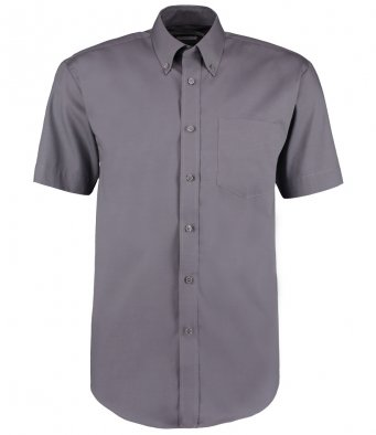 charcoal oxford short sleeve shirt