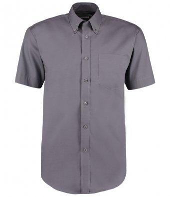 charcoal oxford short sleeve shirt