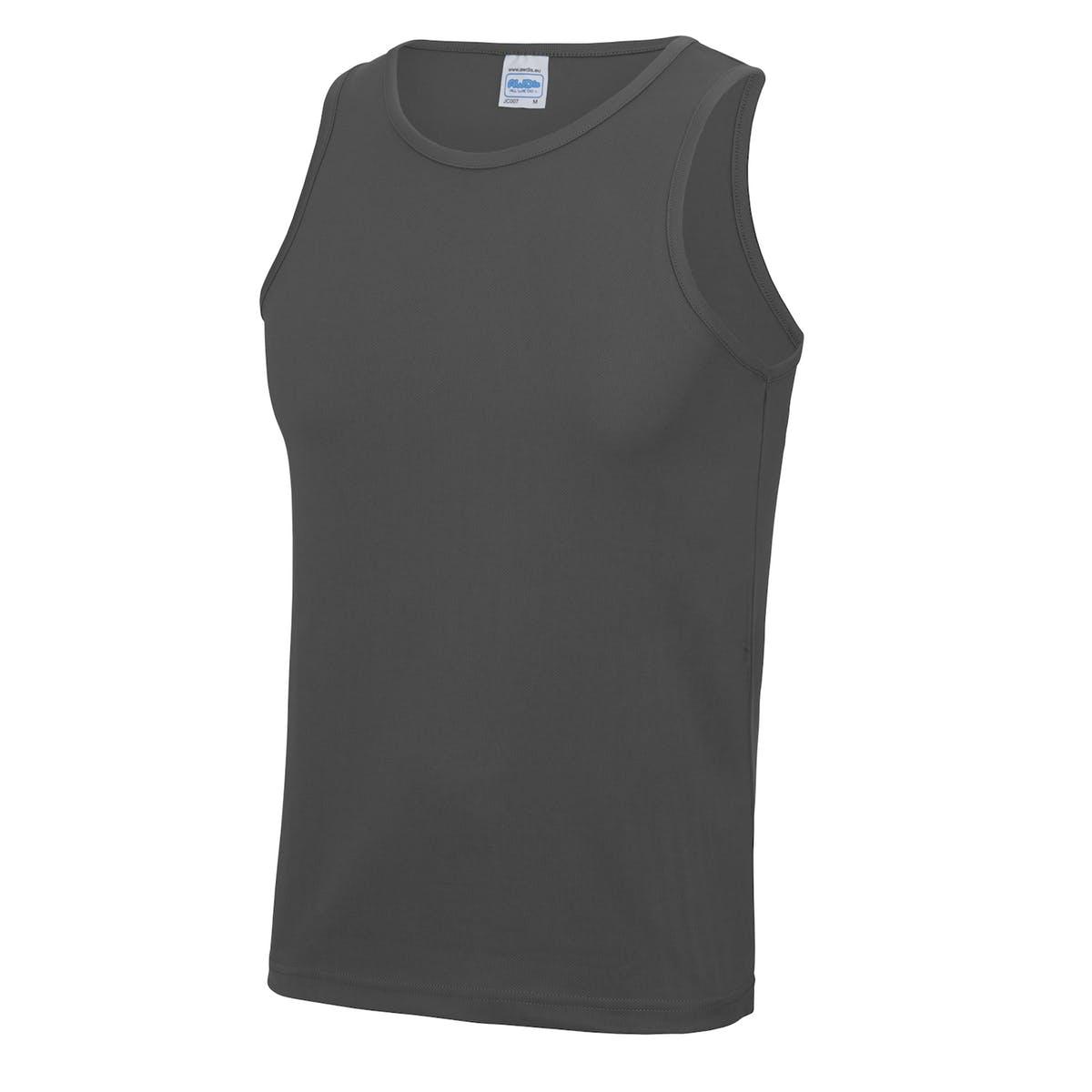 charcoal sports vest