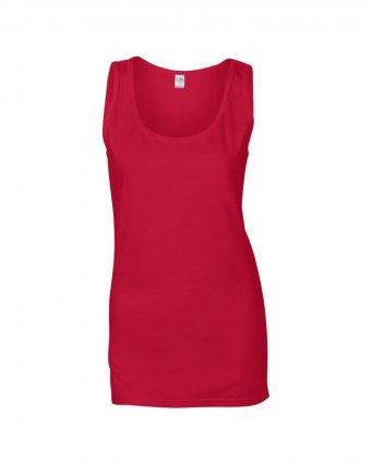 cherry red ladies tank top