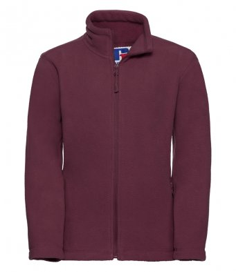 childrens burgundy fleece jacket