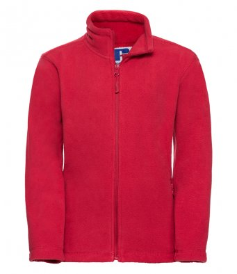 childrens classic red fleece jacket