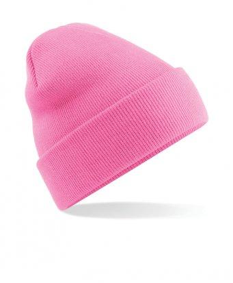 classic pink cuffed beanie