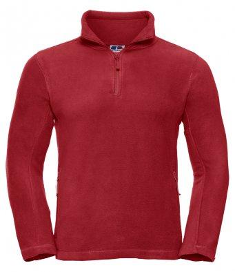 classic red 34 zip fleece jacket