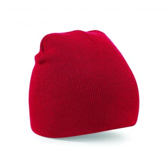 classic red beanie