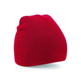 classic red beanie