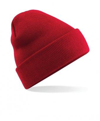 classic red cuffed beanie
