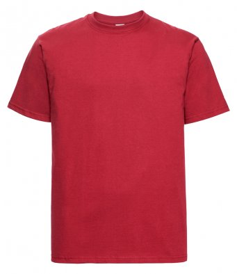 classic red heavyweight cotton t shirt
