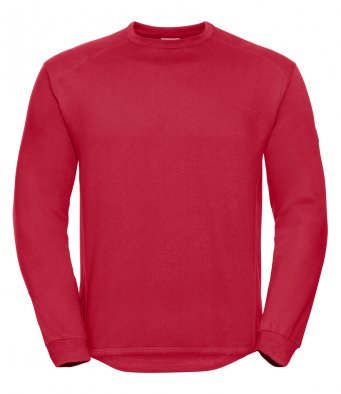classic red heavyweight sweatshirt