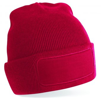 classic red printed beanie