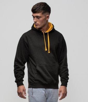 contrast hoodies