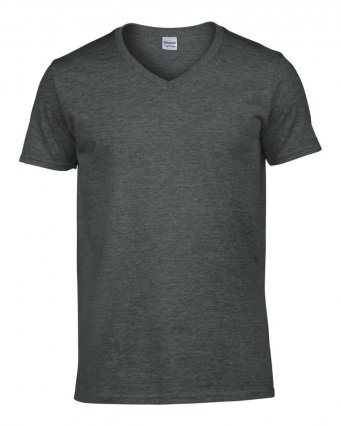 dark heather v neck t shirt