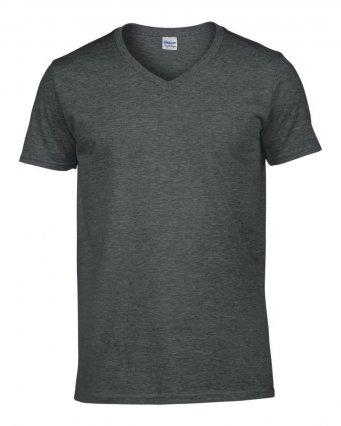 dark heather v neck t shirt