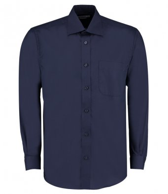dark navy long sleeve business shirt