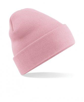 dusky pink cuffed beanie